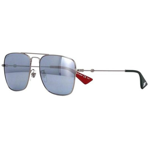 Gucci Square Style Silver Mirrored Lens
